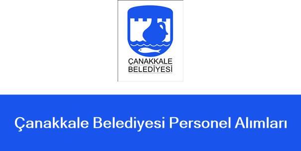 çanakkale belediyesi personel alımı