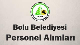 Bolu Belediyesi personel alımı