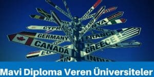mavi diploma veren üniversiteler
