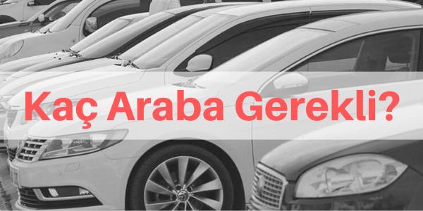 rent a car açmak için kaç araba gerekli