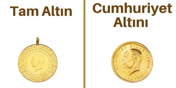tam altın ile cumhuriyet altını arasındaki fark