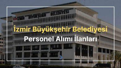 izmir büyükşehir belediyesi personel alımı