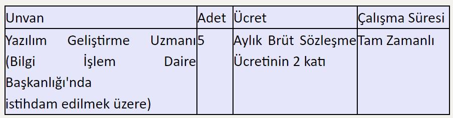 Süleyman Demirel Üniversitesi 5 Sözleşmeli Personel Alım İlanı