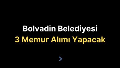 Bolvadin Belediyesi 3 Memur Alımı Yapacak