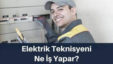 elektrik teknisyeni ne iş yapar
